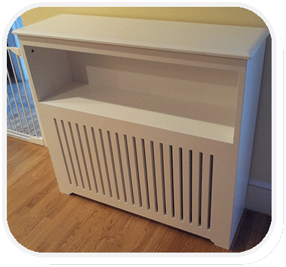 radiator cover with shelf